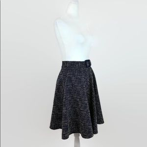 The Limited Skirts - The Limited Sophie Theallet Navy Blue Belted Skirt